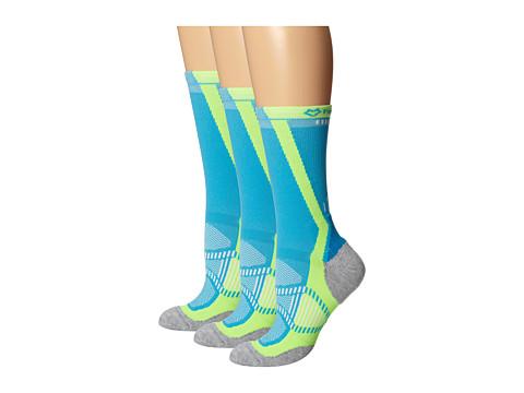 Fox River - Vite LX (3-Pair Pack) (Cyan) Women's Crew Cut Socks Shoes