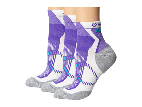 Fox River - Vite LX (3-Pair Pack) (Purple) Women's Quarter Length Socks Shoes