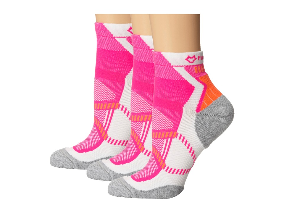 Fox River - Vite LX (3-Pair Pack) (Neon Pink) Women's Quarter Length Socks Shoes