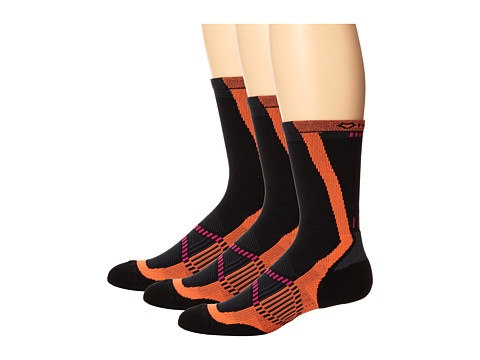 Fox River - Vite LX (3-Pair Pack) (Black) Women's Crew Cut Socks Shoes