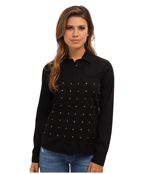 Mavi Jeans - Studded Denim Shirt (Black) Women