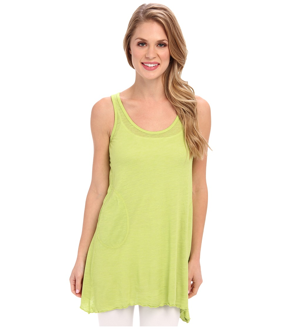 Allen Allen - Angled Two-Pocket Tunic Tank (Meadow Lime) Women's Sleeveless