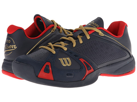 Wilson - Rush Pro Hard Court 100 (Coal/Red/Gold) Women