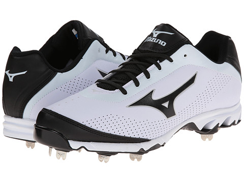 Mizuno - 9-Spike Vapor Elite 7 Low (White/Black) Men's Cleated Shoes