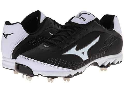 Mizuno - 9-Spike Vapor Elite 7 Low (Black/White) Men's Cleated Shoes