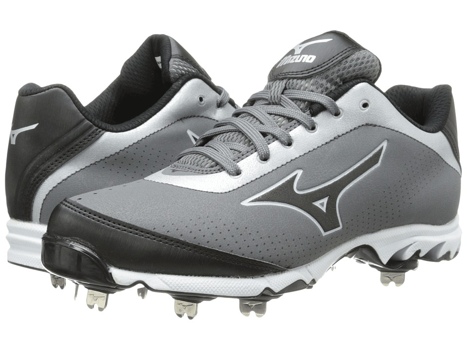 Mizuno - 9-Spike Vapor Elite 7 Low (Grey/Black) Men's Cleated Shoes