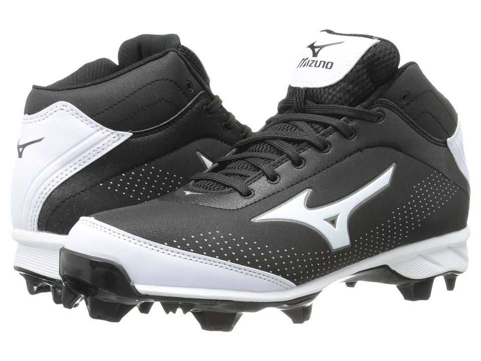 Mizuno - 9-Spike(r) Advanced Blaze Elite 5 Mid (Black/White) Men's Cleated Shoes