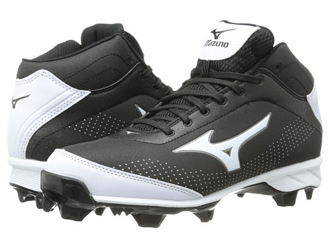 Mizuno - 9-Spike Advanced Blaze Elite 5 Mid (Black/White) Men