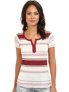 SALE! $17.99 - Save $10 on UNIONBAY Lexington Stripe Split Neck Henley (Dark Purple Rhubarb) Apparel - 35.75% OFF $28.00