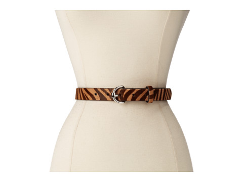 LAUREN by Ralph Lauren - 1 Haircalf Belt w/ Equestrian Roller (Zebra) Women's Belts
