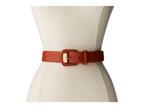 LAUREN by Ralph Lauren - 1 3/8 Vachetta Belt w/ LCB and Plaque (Lauren Tan) Women