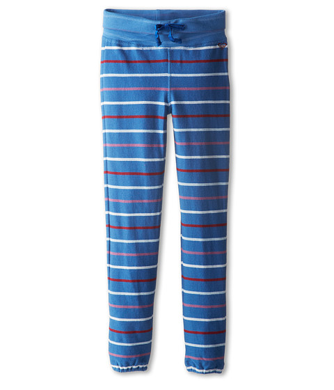 Roxy Kids - Finish Line Fleece Pant (Big Kids) (Old Skool Blue Heather Stripe) Girl