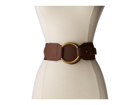LAUREN by Ralph Lauren - 2 1/2 Stretch w/ O Ring (Chocolate) Women
