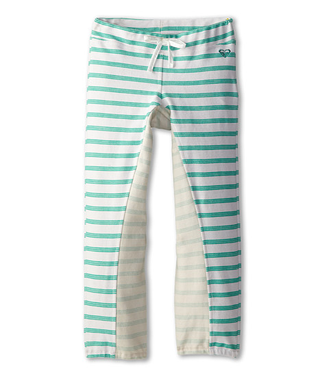 Roxy Kids - Tumble Fleece Pant (Toddler/Little Kids/Big Kids) (Del Rey Metro Heather Y/D Stripe) Girl