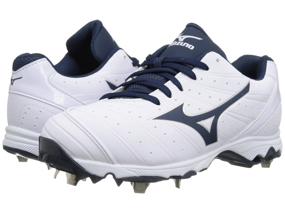 Mizuno - 9-Spike Advanced Sweep 2 (White/Navy) Women's Cleated Shoes