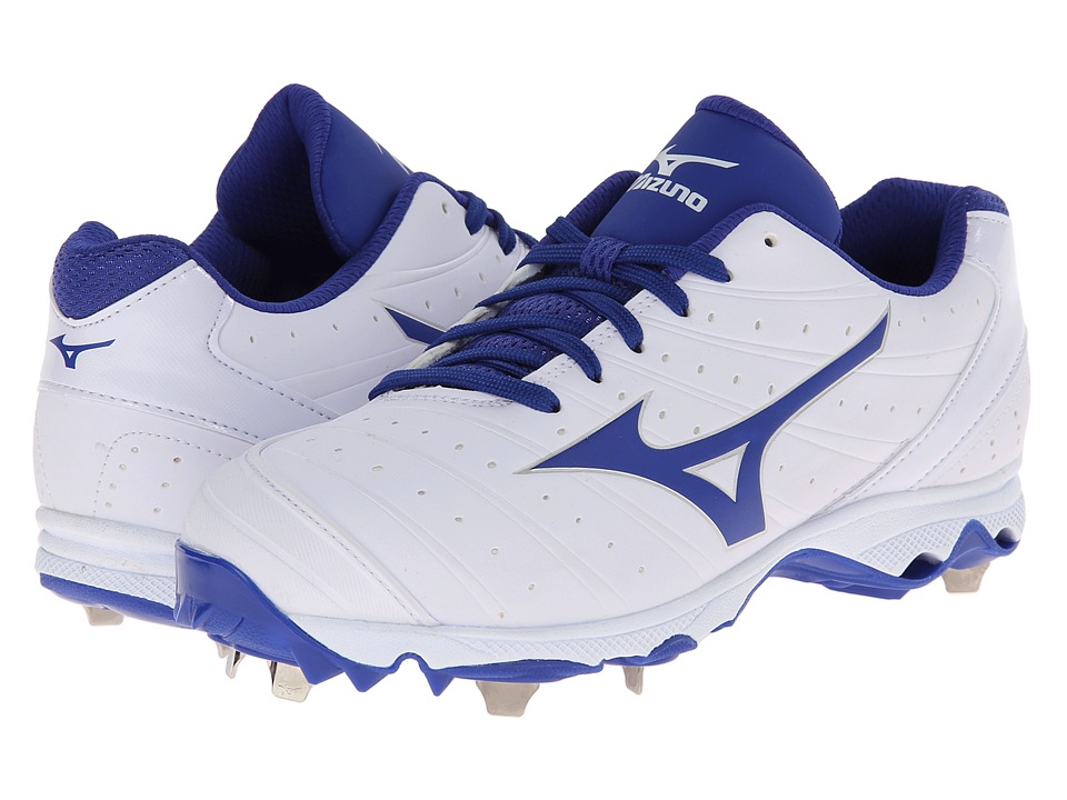 Mizuno - 9-Spike Advanced Sweep 2 (White/Royal) Women's Cleated Shoes