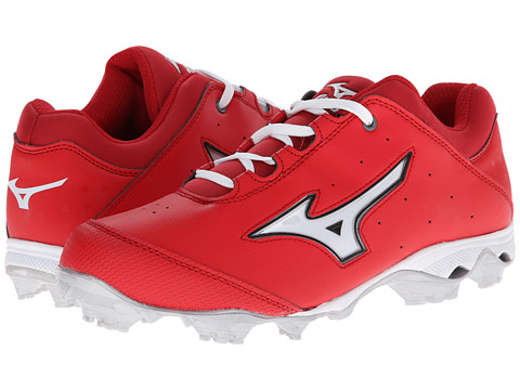 Mizuno - 9-Spike Finch Elite Switch (Red/White) Women's Cleated Shoes