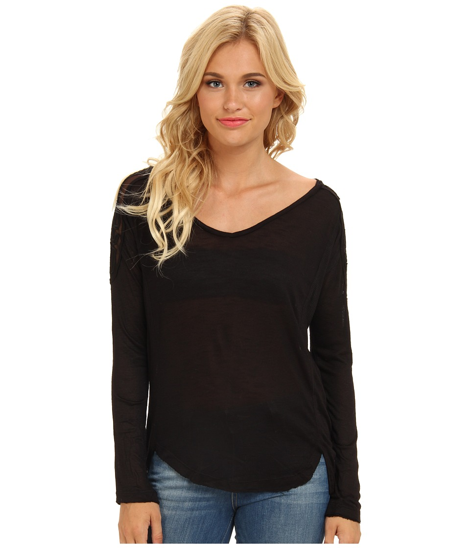 Free People - Gatsby Top (Black) Women's Long Sleeve Pullover