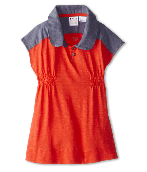 Roxy Kids - Sand Angel Knit Dress (Toddler/Little Kids/Big Kids) (Hot Coral) Girl's Dress