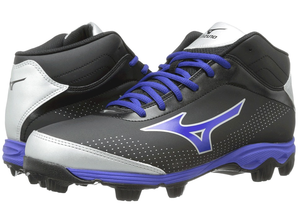 Mizuno - 9-Spike Franchise 7 Mid (Black/Royal) Men's Cleated Shoes