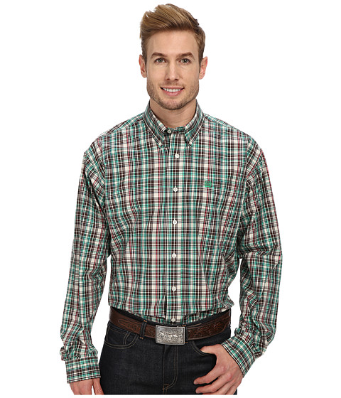 Cinch - L/S Plain Weave Plaid (Cream) Men
