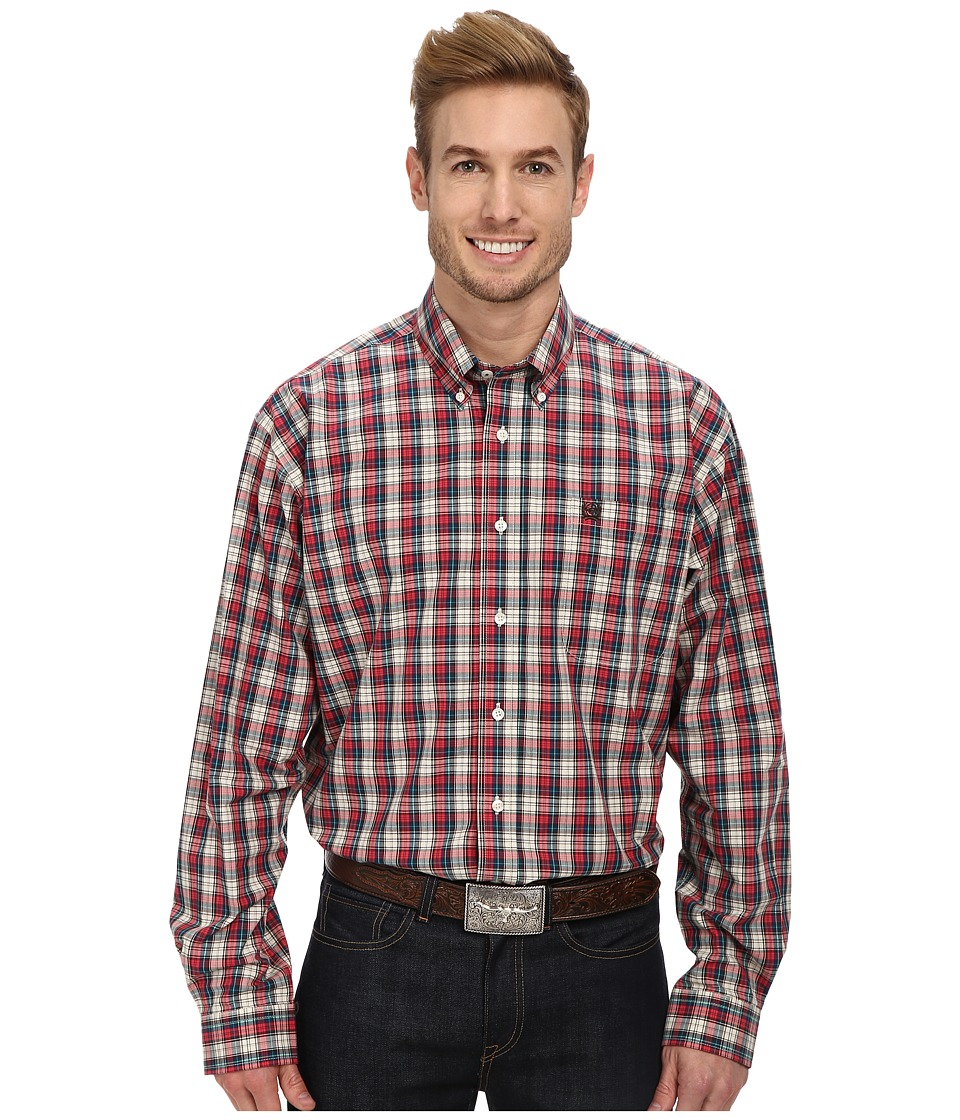 Cinch - L/S Plain Weave Plaid (Cream 1) Men