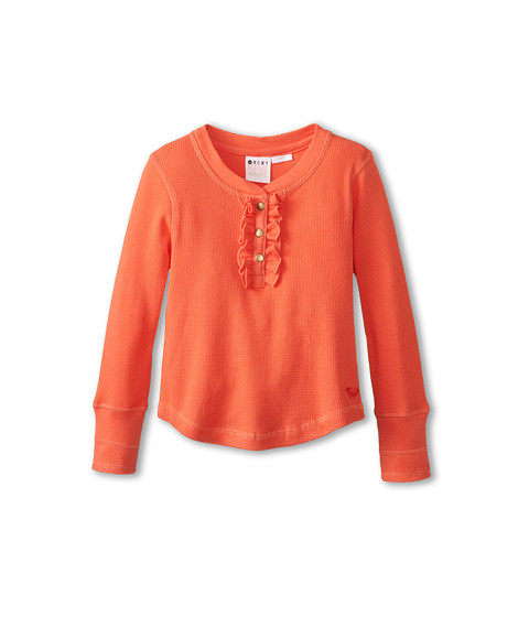 Roxy Kids - Sand Dunes Knit Top (Toddler/Little Kids/Big Kids) (Hot Coral) Girl's Short Sleeve Knit