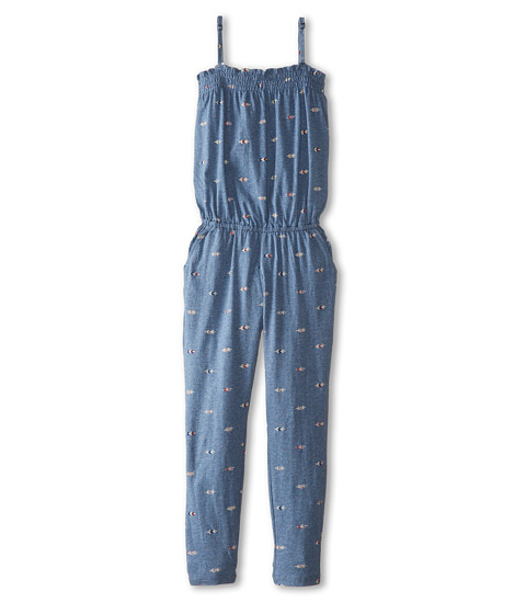 Roxy Kids - Pacific Jumper (Big Kids) (Arrow Embroidery Copen Blue Heather) Girl's Jumpsuit & Rompers One Piece