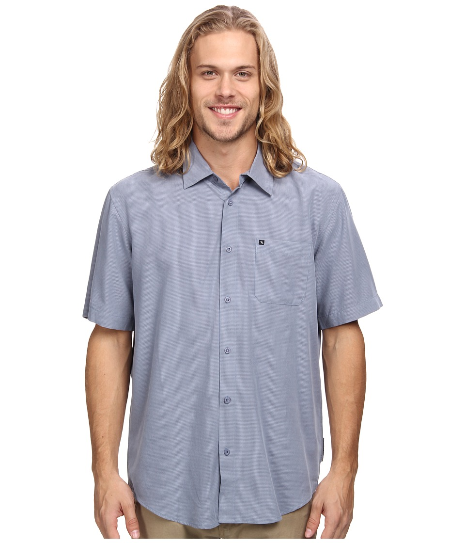 Rip Curl - Sand Dollars S/S Shirt (Blue Grey) Men's Short Sleeve Button Up