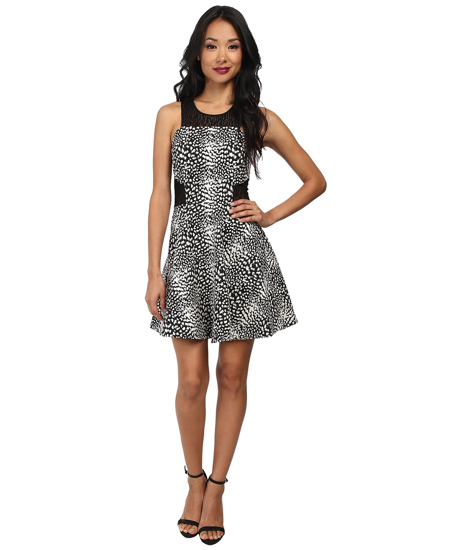 Parker - Franco Combo Dress (Black Ivory) Women's Dress