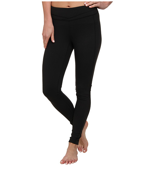Lucy - Hatha Legging (Lucy Black Geo Print Emboss) Women's Workout