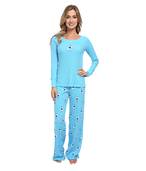 HUE - Sassy Bird Thermal Set (Aquarius) Women's Pajama Sets