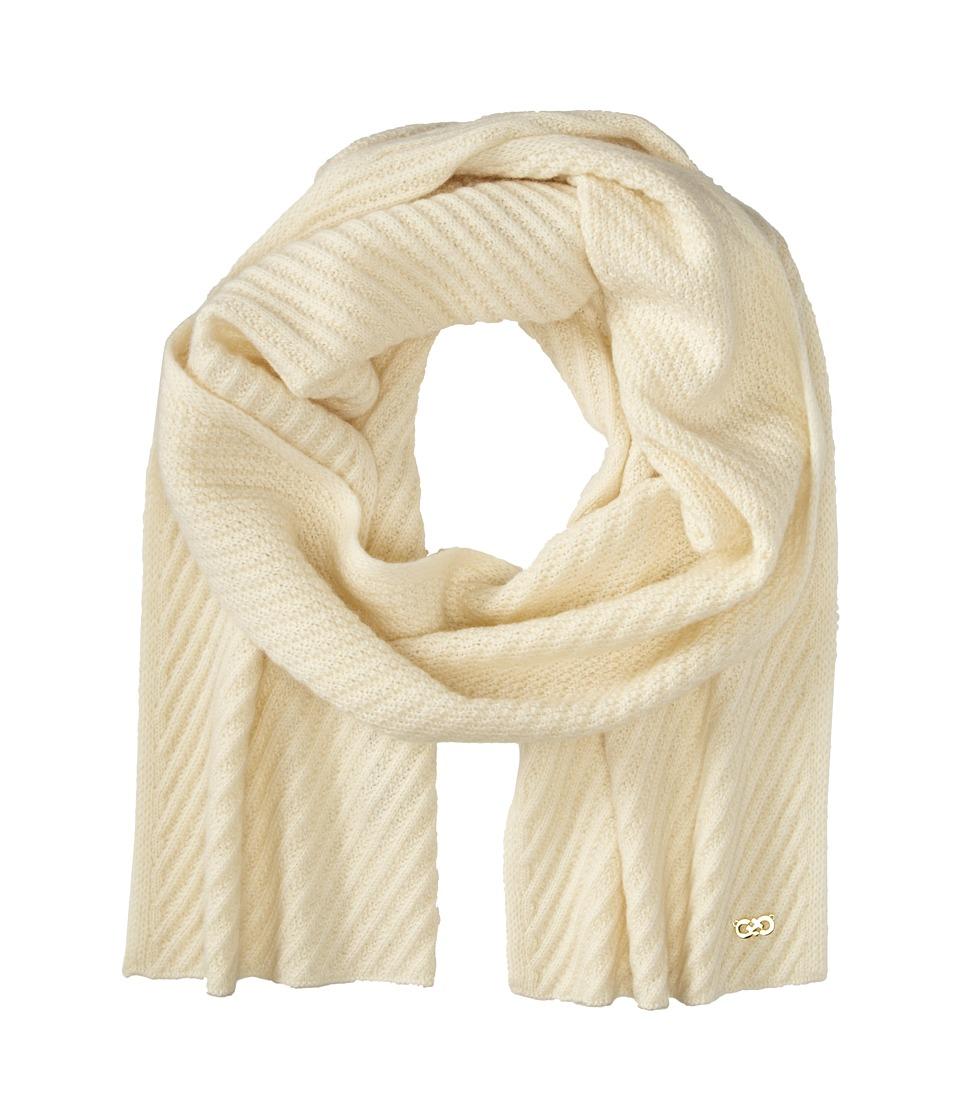 Cole Haan - Diagonal Rib Muffler (Ivory) Scarves