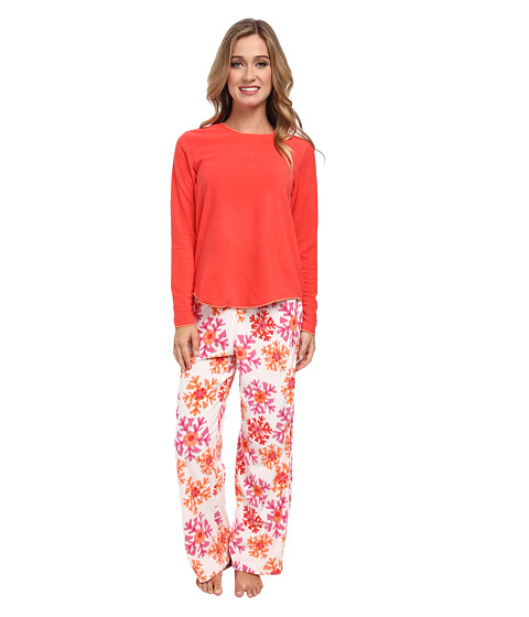 HUE - Snow Scope Fleece Set (Hibiscus) Women's Pajama Sets