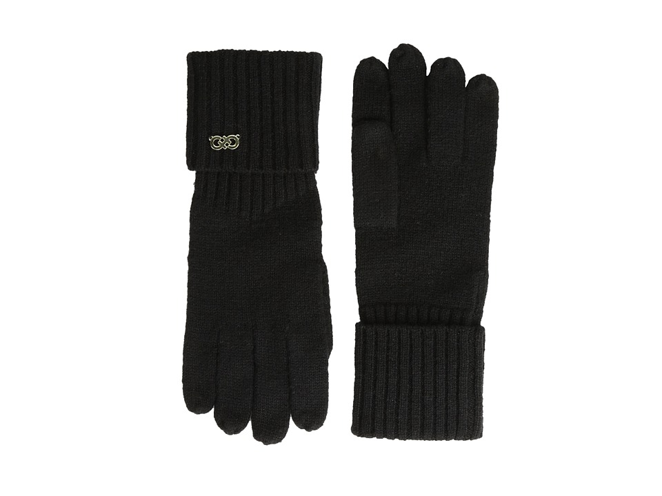 Cole Haan - Diagonal Rib Glove (Black) Extreme Cold Weather Gloves