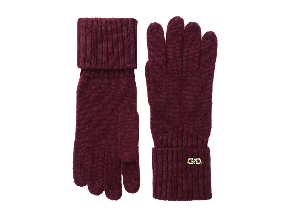 Cole Haan - Diagonal Rib Glove (Red) Extreme Cold Weather Gloves