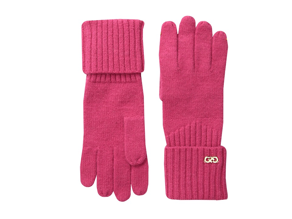 Cole Haan - Diagonal Rib Glove (Pink) Extreme Cold Weather Gloves