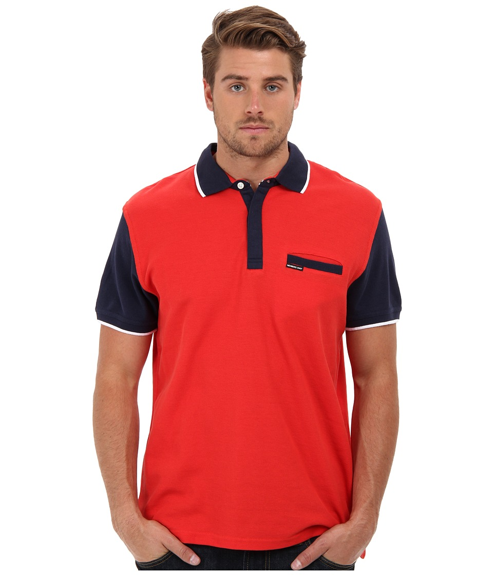 Members Only - Color Block Polo (Sunset) Men's Short Sleeve Pullover