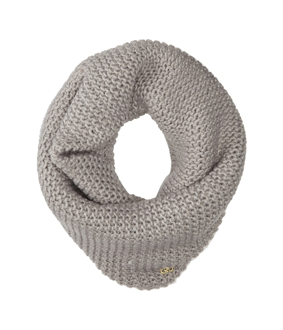 Cole Haan - Xtra Chunky Neckwarmer (Light Grey) Scarves
