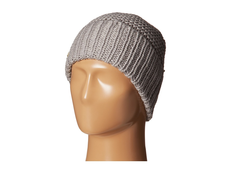 Cole Haan - Xtra Chunky Cuff Hat (Light Grey) Knit Hats