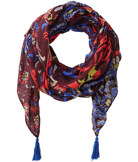 Sam Edelman - Tapestry Oblong (Burgundy) Scarves