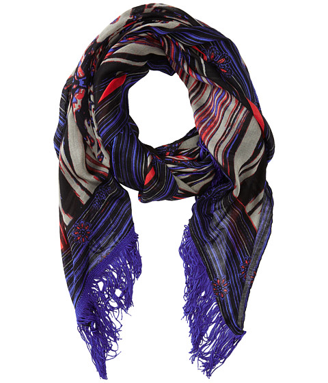 Sam Edelman - Stained Glass Oblong (Gray) Scarves