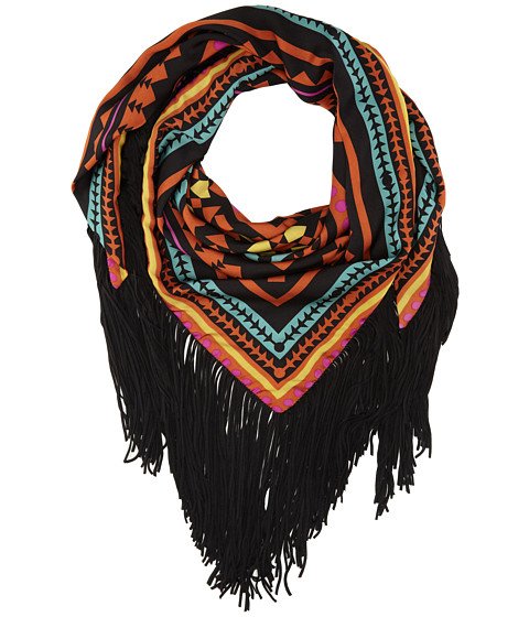 Sam Edelman - Aztec Triangle W/ Fringe (Red) Scarves