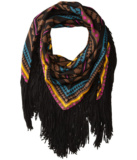 Sam Edelman - Aztec Triangle W/ Fringe (Chocolate) Scarves