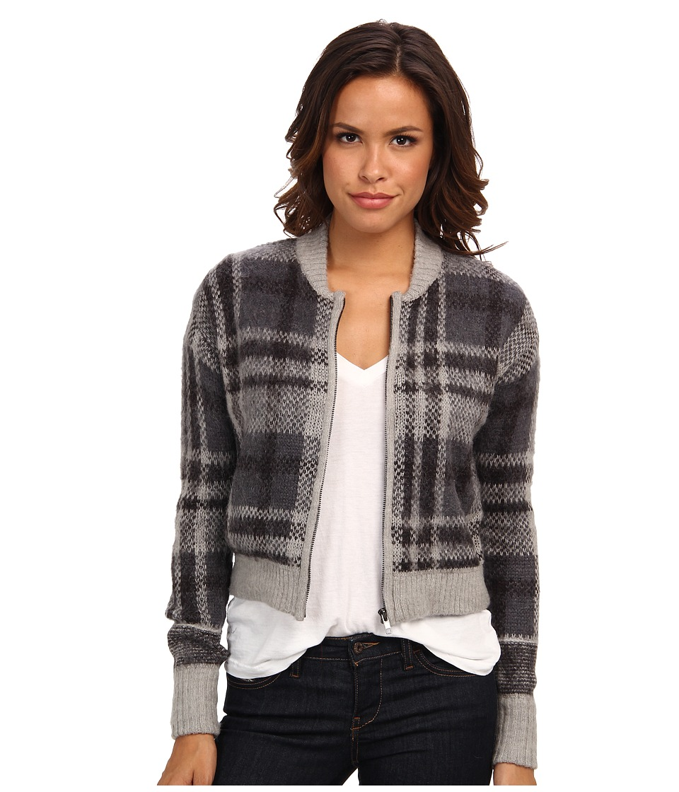 Free People - Oh My Plaid Sweater (Grey Combo) Women