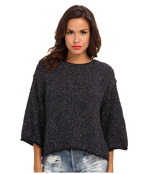 Free People - Under Your Spell Sweater (Black Combo) Women's Sweater