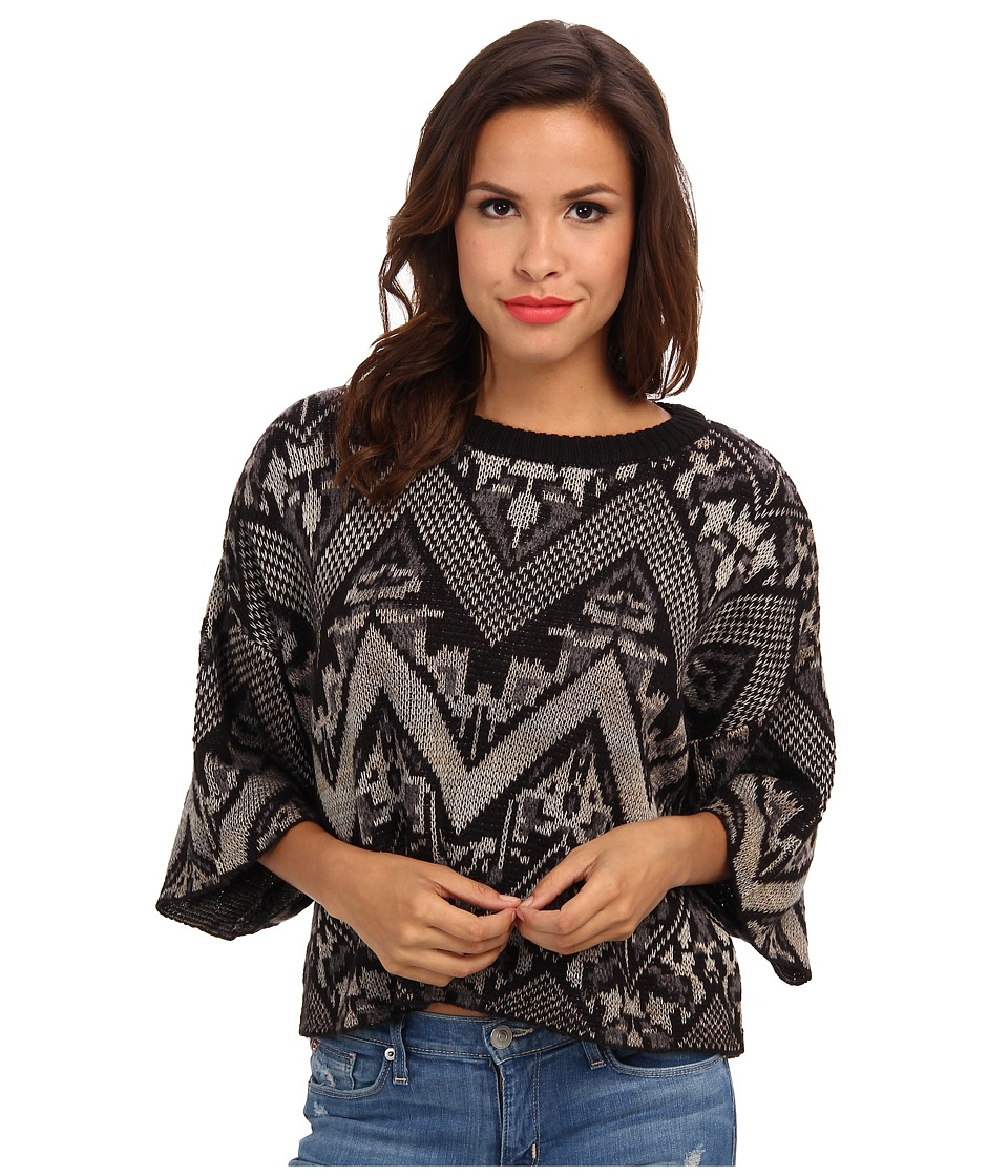 Free People - Superstar Pullover Sweater (Black Combo) Women's Sweater