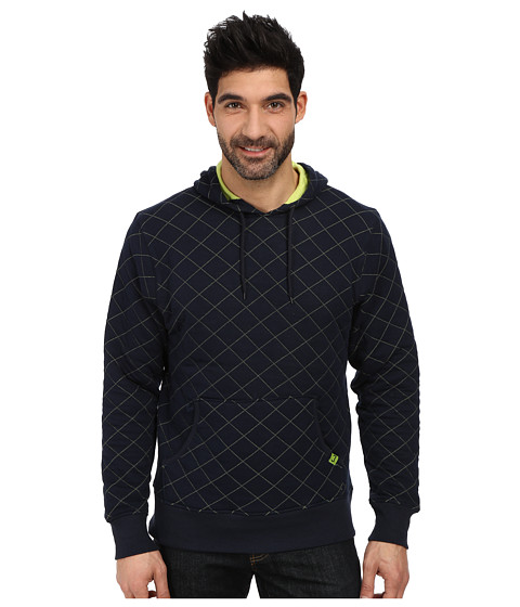 Cinch - Quilted Jersey Pullover Hoodie (Navy) Men