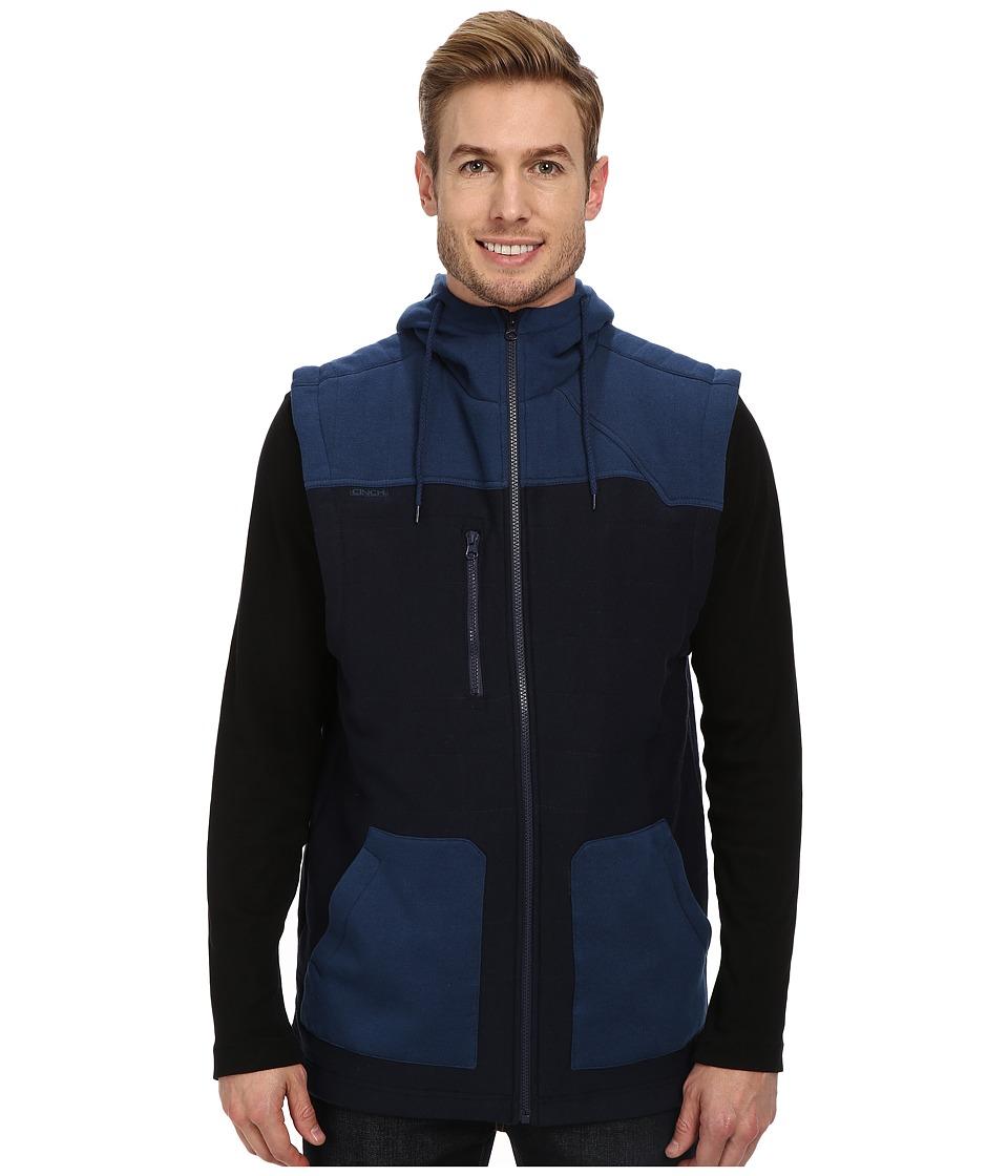 Cinch - Jersey Polyfill Hooded Vest (Blue) Men