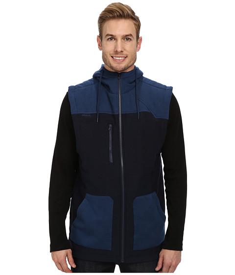 Cinch - Jersey Polyfill Hooded Vest (Blue) Men's Vest